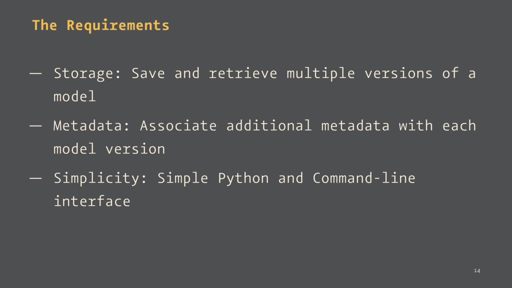 The Requirements — Storage: Save and retrieve m...