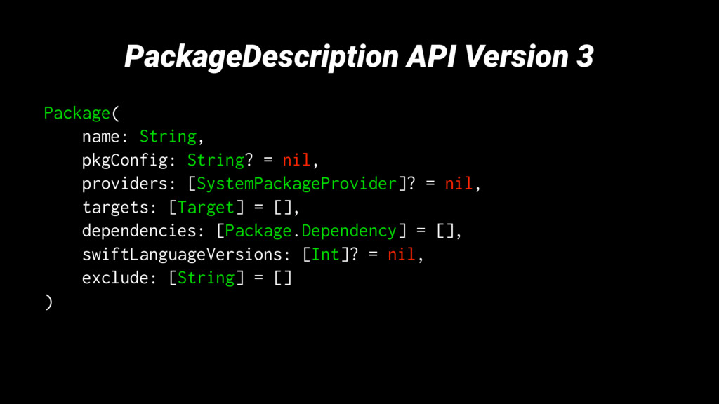 PackageDescription API Version 3 Package( name:...