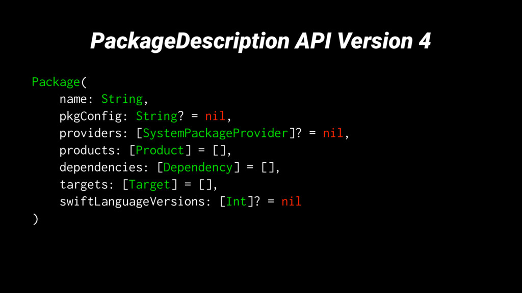 PackageDescription API Version 4 Package( name:...