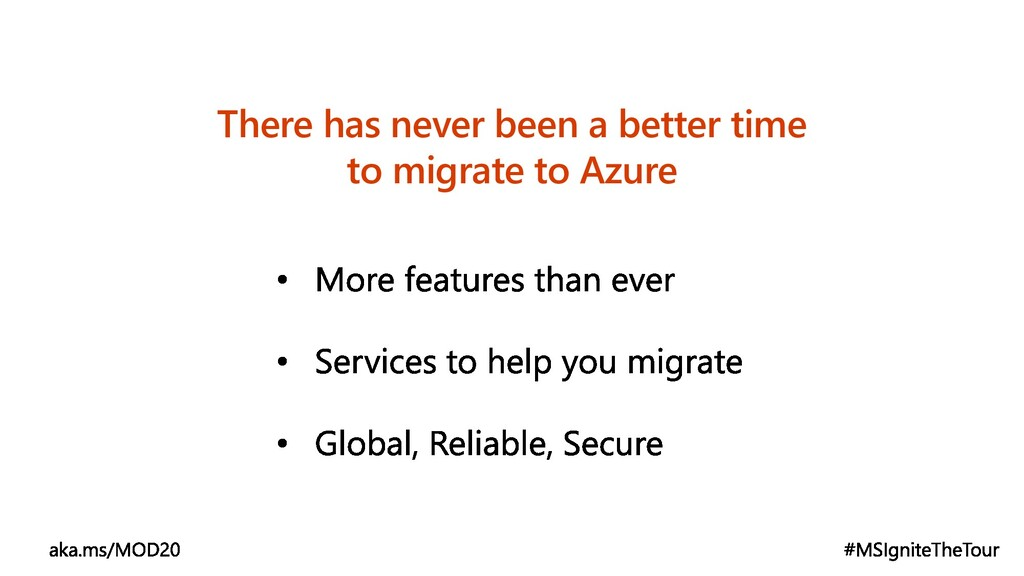 There has never been a better time to migrate t...