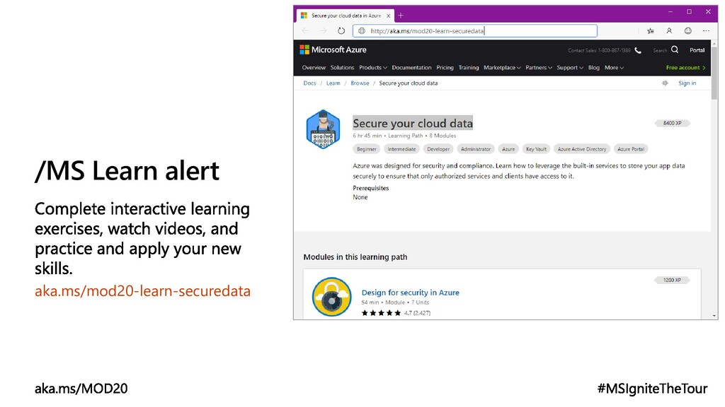 /MS Learn alert aka.ms/mod20-learn-securedata