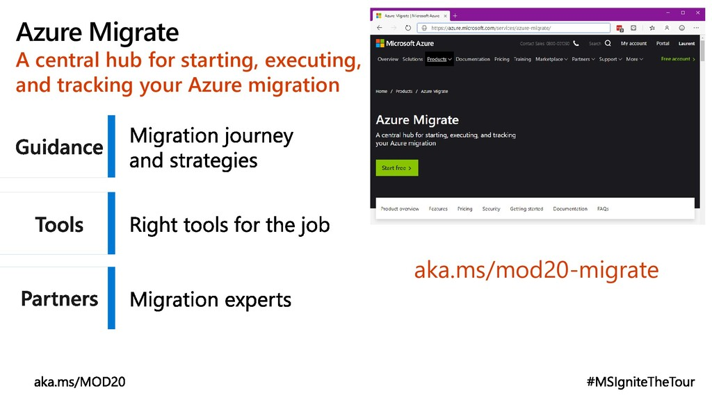 Azure Migrate A central hub for starting, execu...