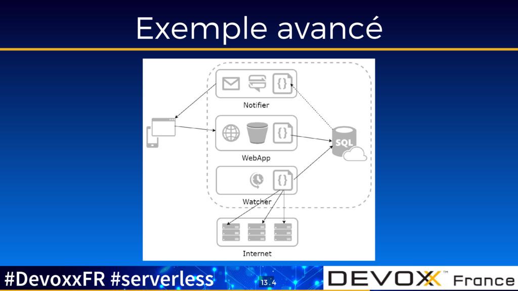 Exemple avancé #DevoxxFR #serverless 13 . 4