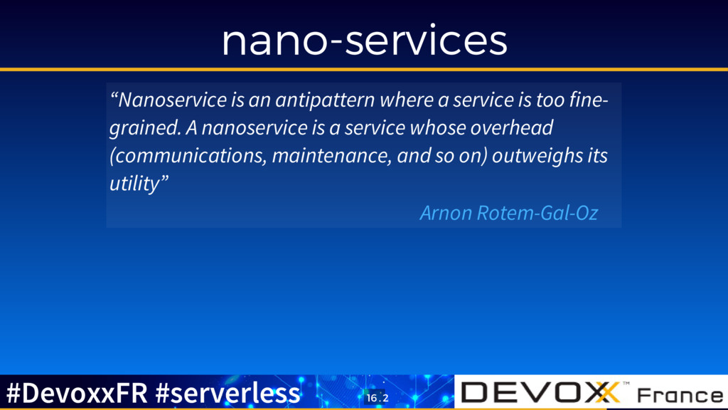 """nano-services """"Nanoservice is an antipattern wh..."""
