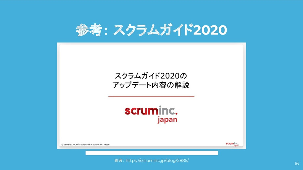 参考: スクラムガイド2020 16 参考: https://scruminc.jp/blog...