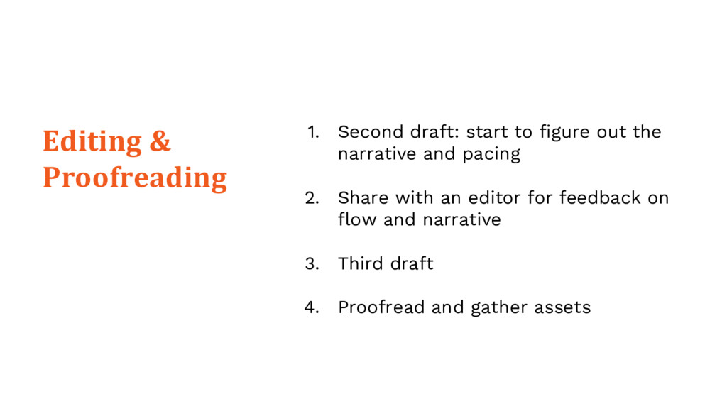 Editing & Proofreading 1. Second draft: start t...