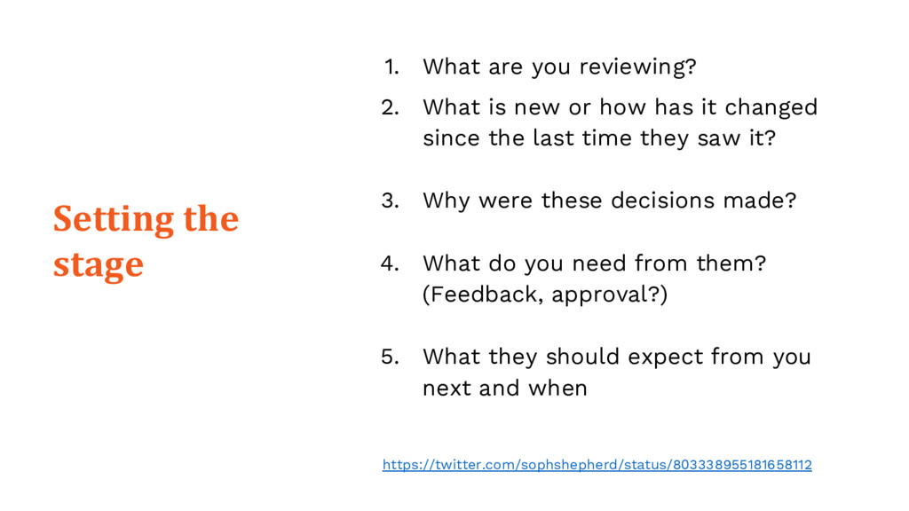 1. What are you reviewing? 2. What is new or ho...