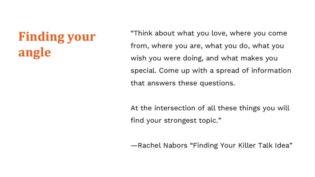 """""""Think about what you love, where you come from..."""