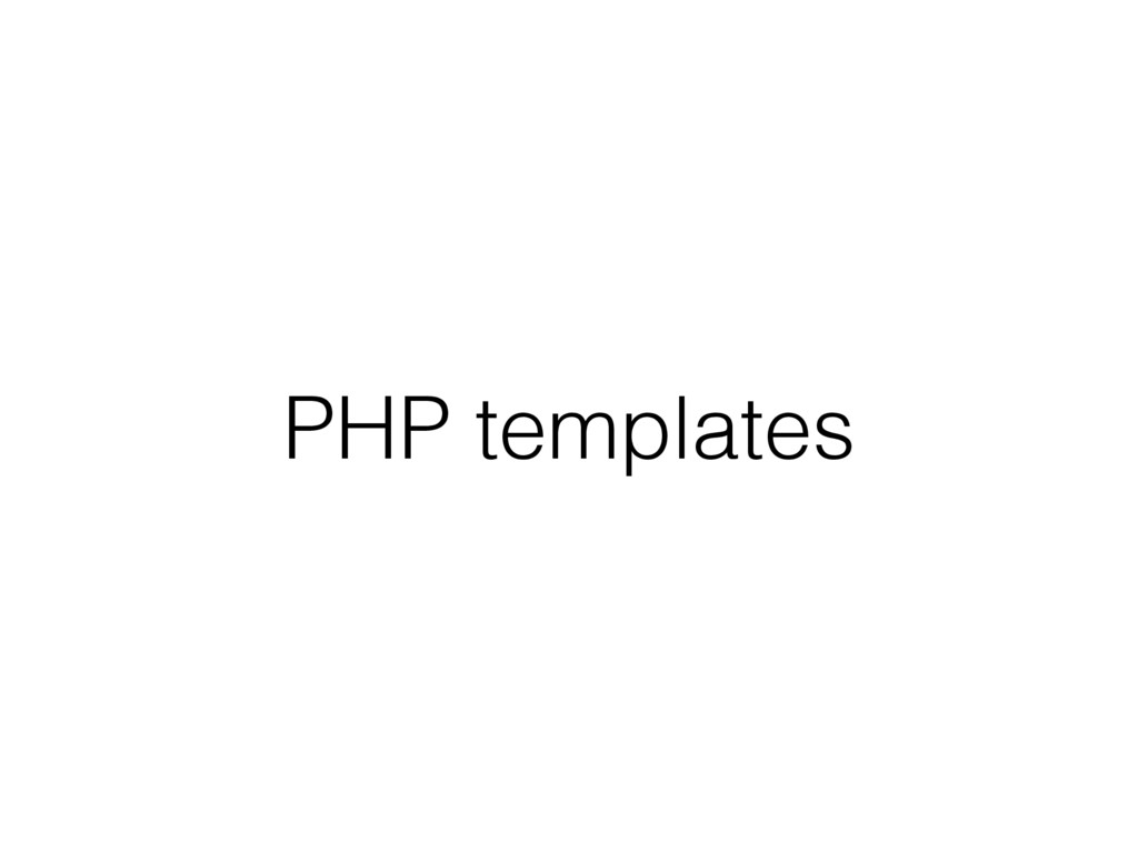 PHP templates