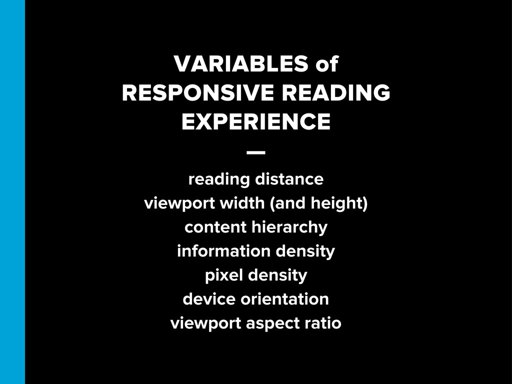 VARIABLES of RESPONSIVE READING EXPERIENCE — re...
