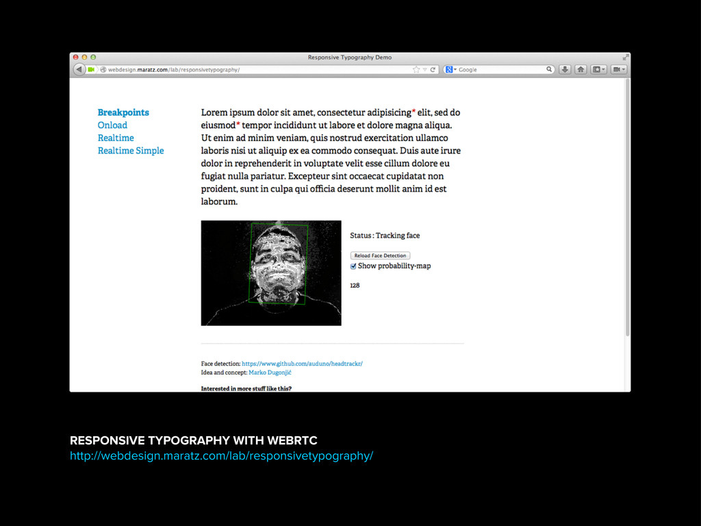RESPONSIVE TYPOGRAPHY WITH WEBRTC http://webdes...
