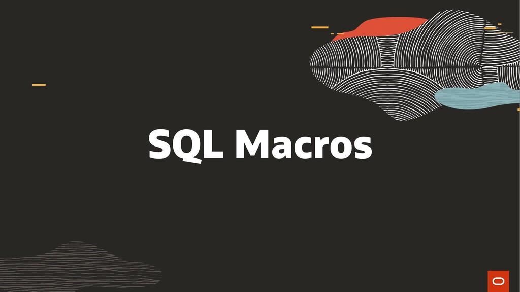 SQL Macros