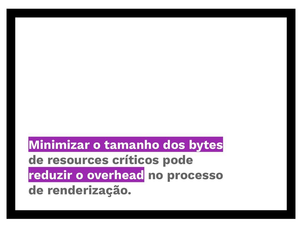 Minimizar o tamanho dos bytes de resources crít...