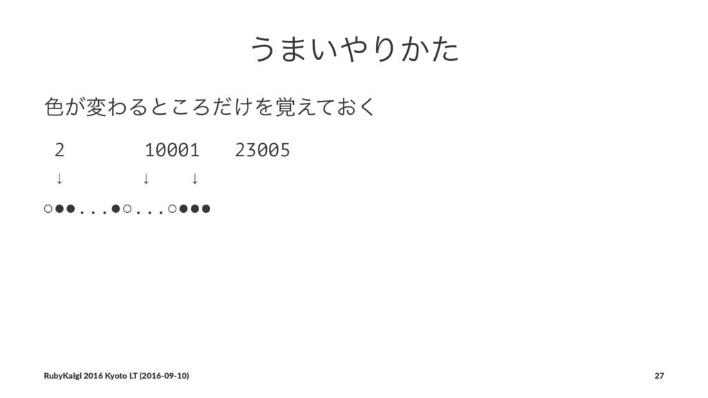 ͏·͍Γ͔ͨ ৭͕มΘΔͱ͜Ζ͚ͩΛ͓֮͑ͯ͘ 2 10001 23005 ↓ɹɹɹɹ↓ɹɹ...