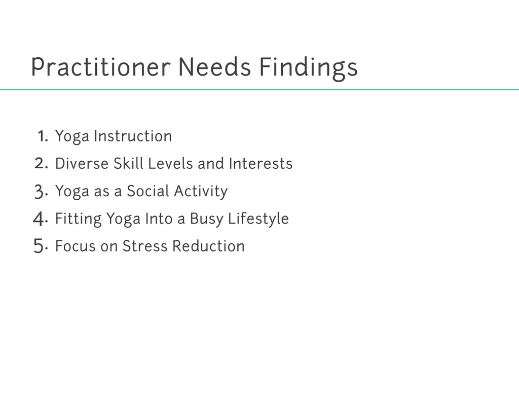Practitioner Needs Findings Yoga Instruction Di...