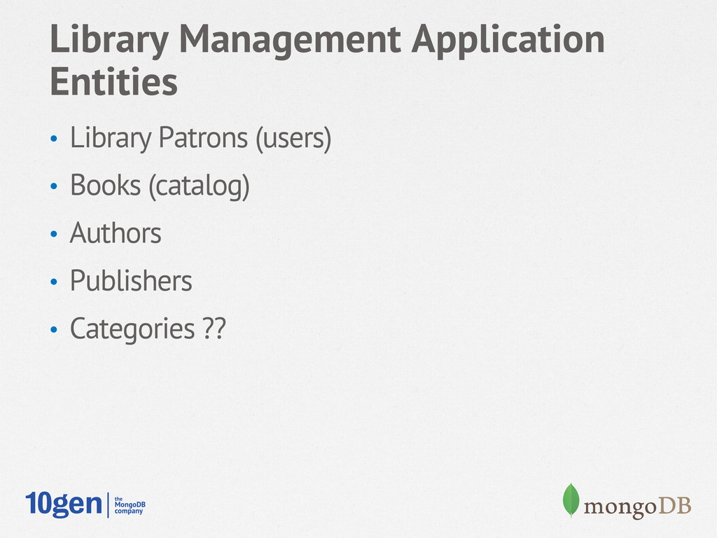 Library Management Application Entities • Libr...