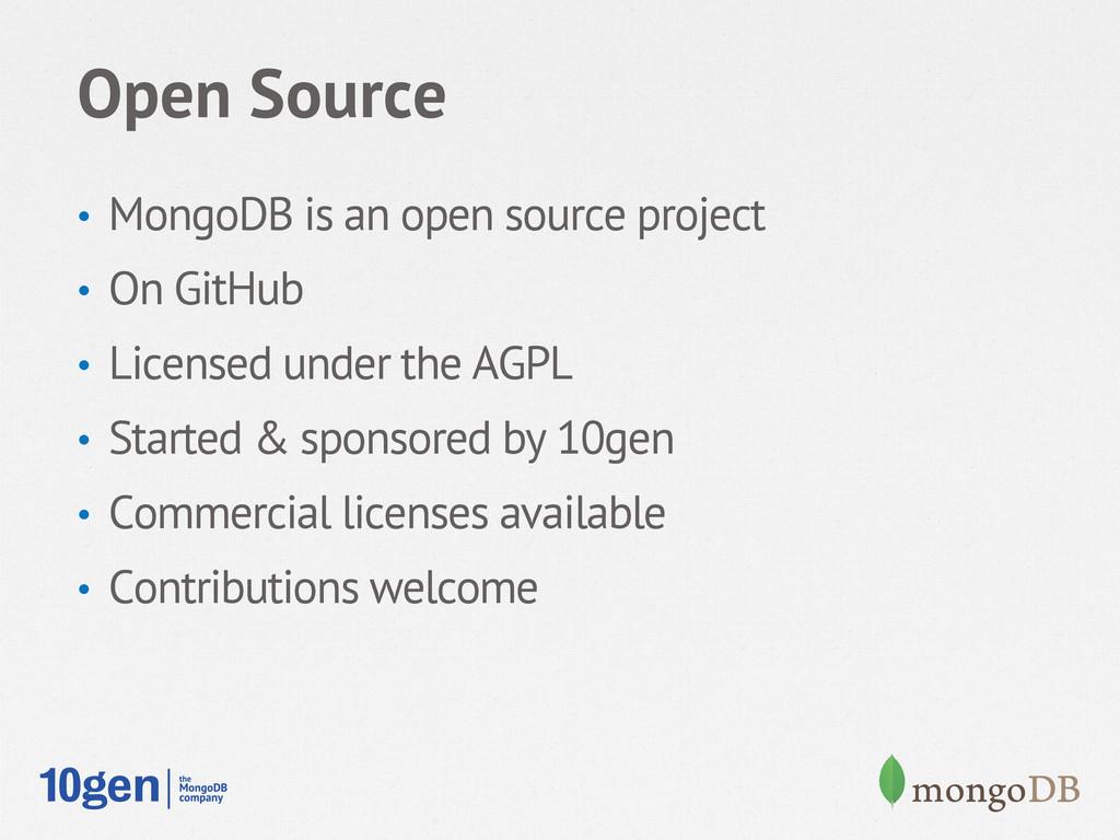 Open Source • MongoDB is an open source projec...