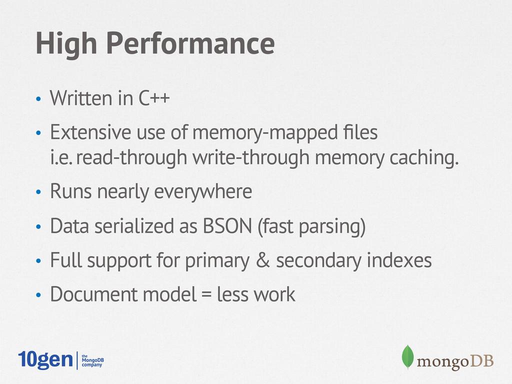 High Performance • Written in C++ • Extensive...