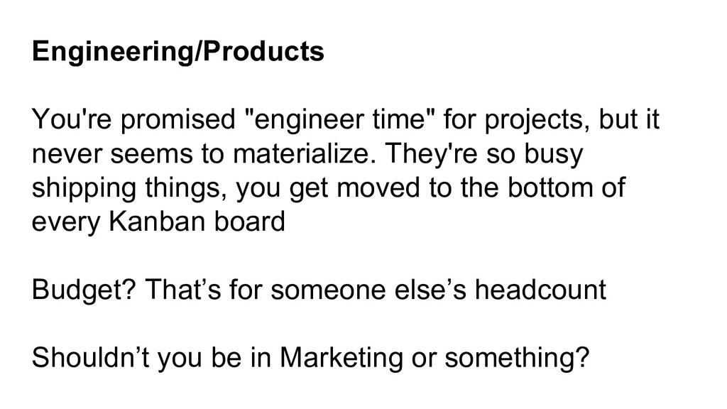"""Engineering/Products You're promised """"engineer ..."""