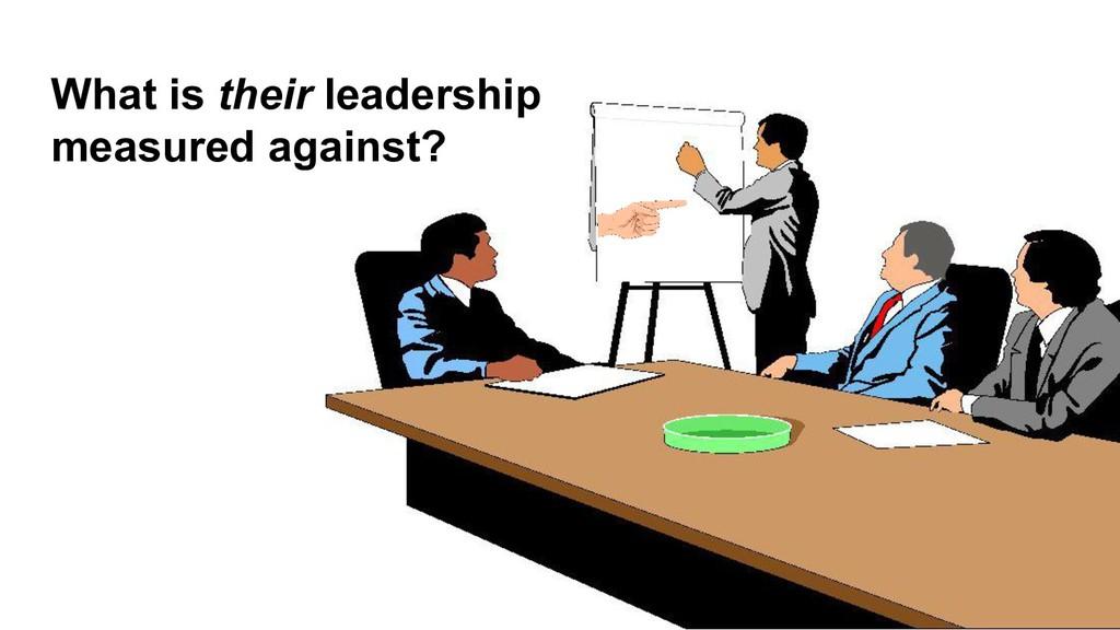 What is their leadership measured against?