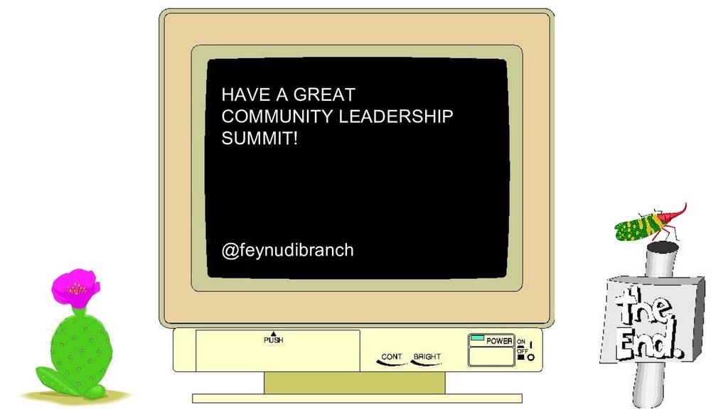 HAVE A GREAT COMMUNITY LEADERSHIP SUMMIT! @feyn...