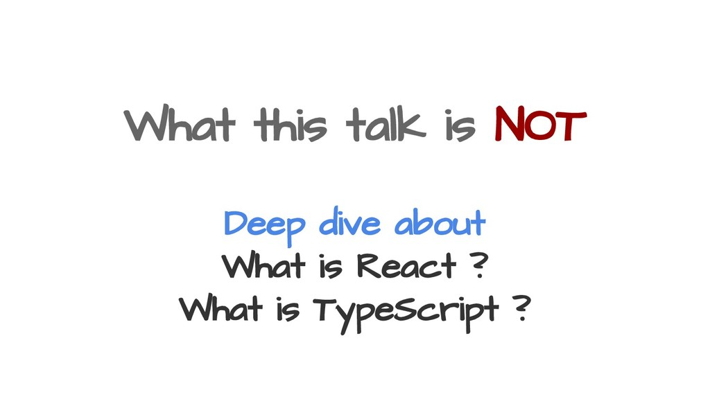 What this talk is NOT Deep dive about What is R...