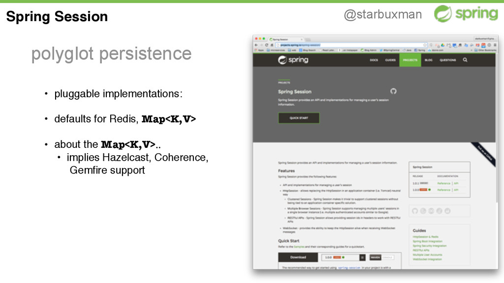 @starbuxman polyglot persistence Spring Session...