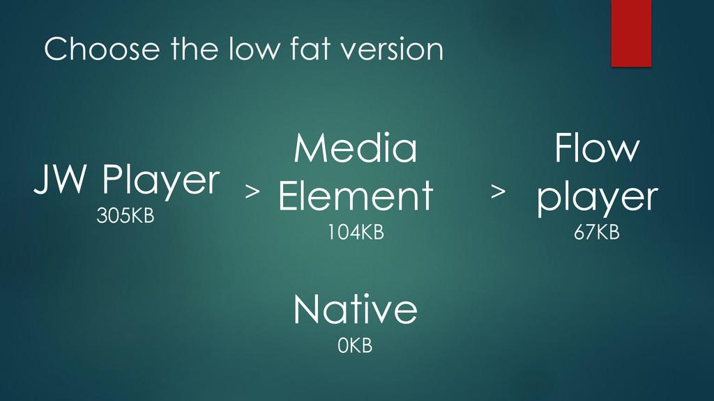 Choose the low fat version Media Element 104KB ...