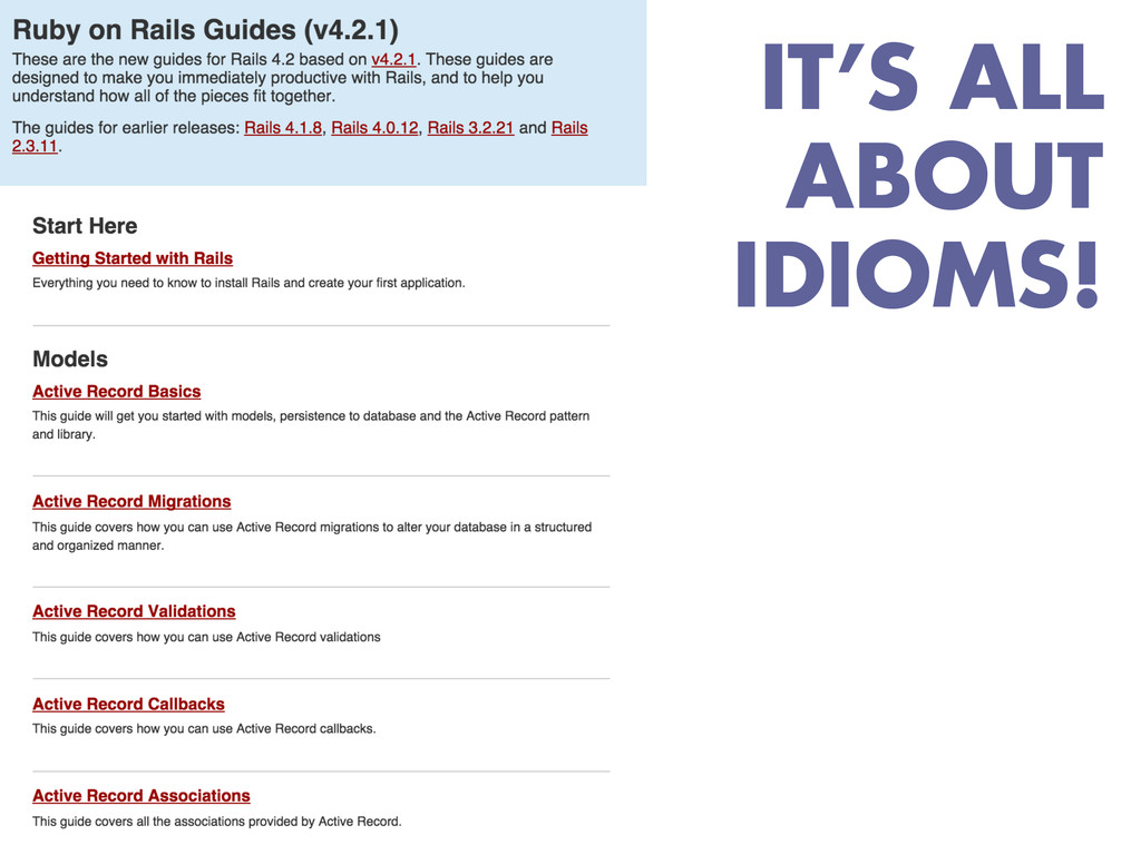 IT'S ALL ABOUT IDIOMS!