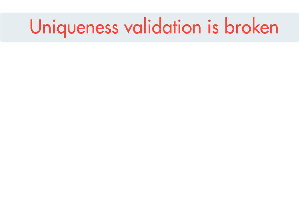 Uniqueness validation is broken