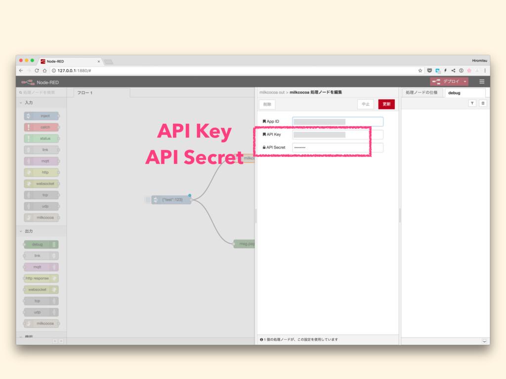 API Key API Secret