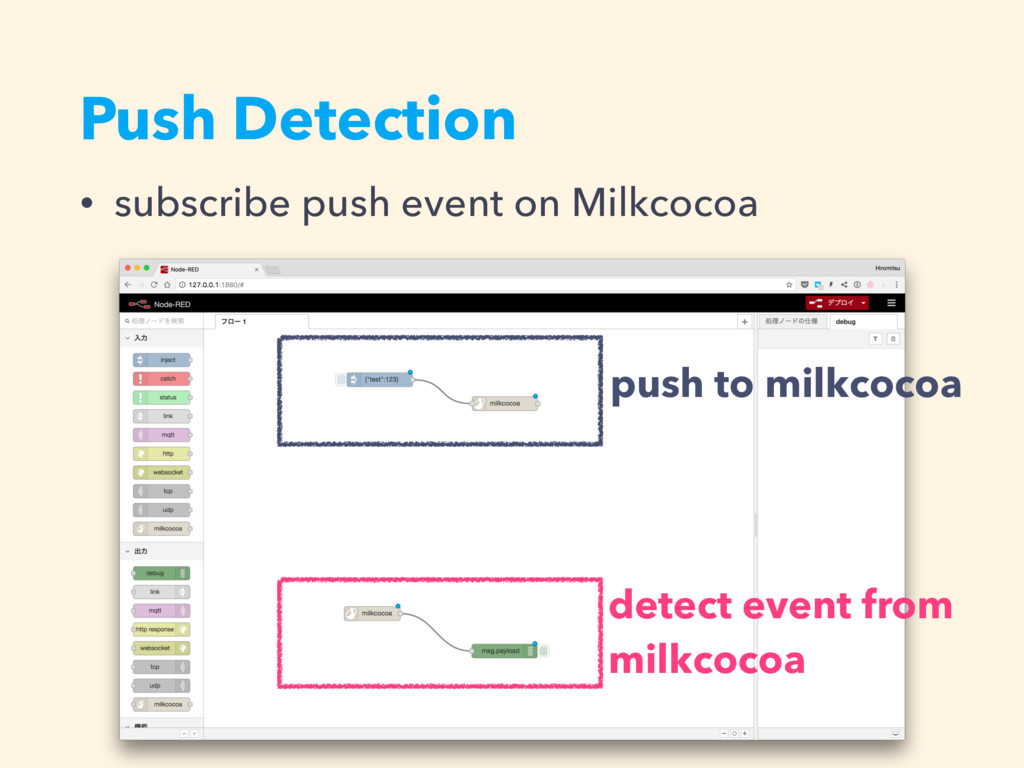 Push Detection • subscribe push event on Milkco...