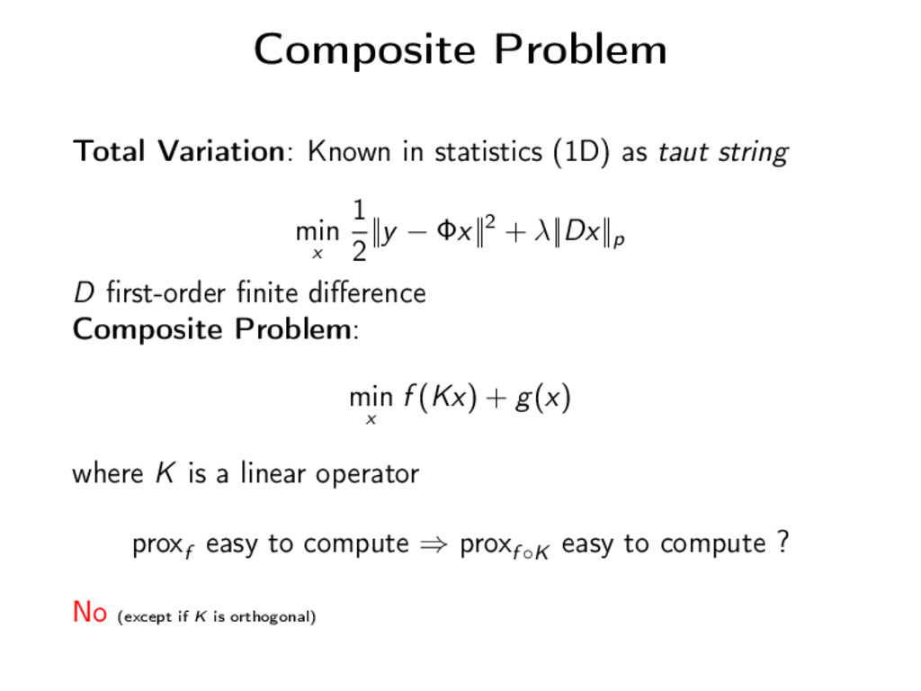 Composite Problem Total Variation: Known in sta...
