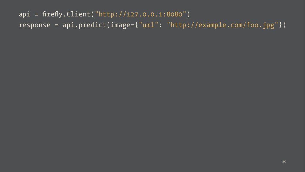 """api = firefly.Client(""""http://127.0.0.1:8080"""") res..."""