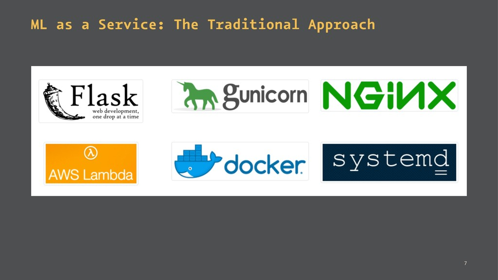ML as a Service: The Traditional Approach 7
