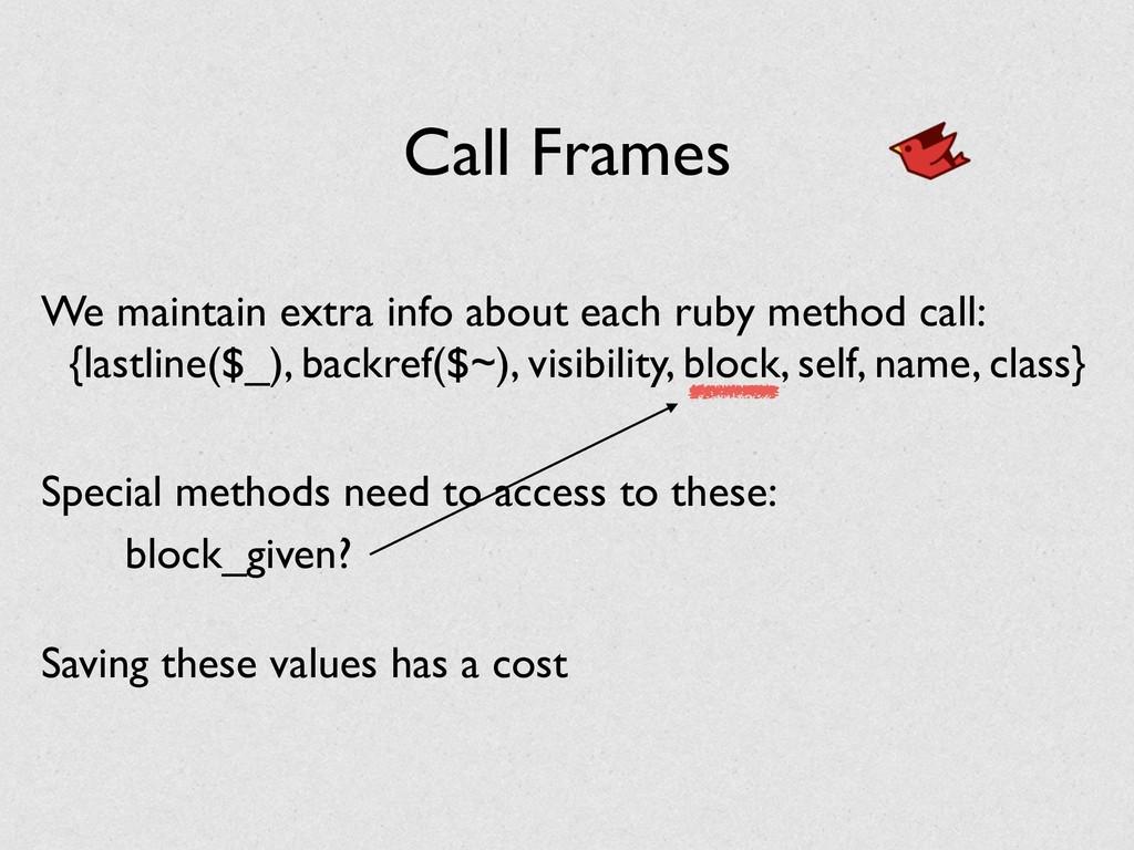 Call Frames {lastline($_), backref($~), visibil...