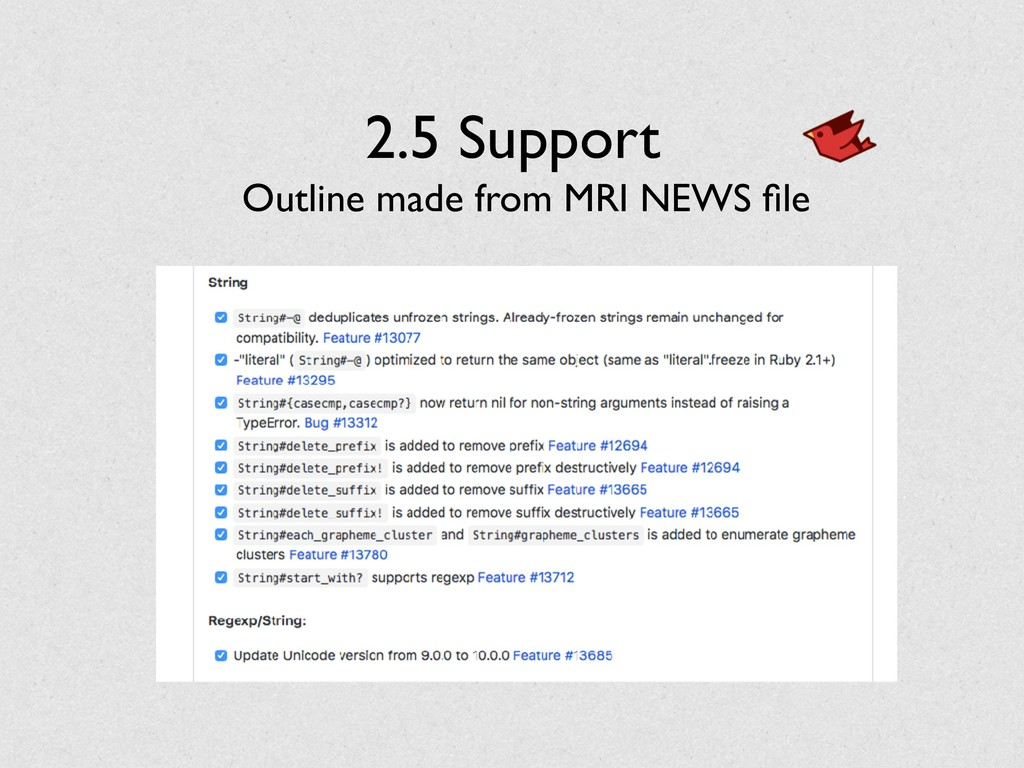 2.5 Support Outline made from MRI NEWS file