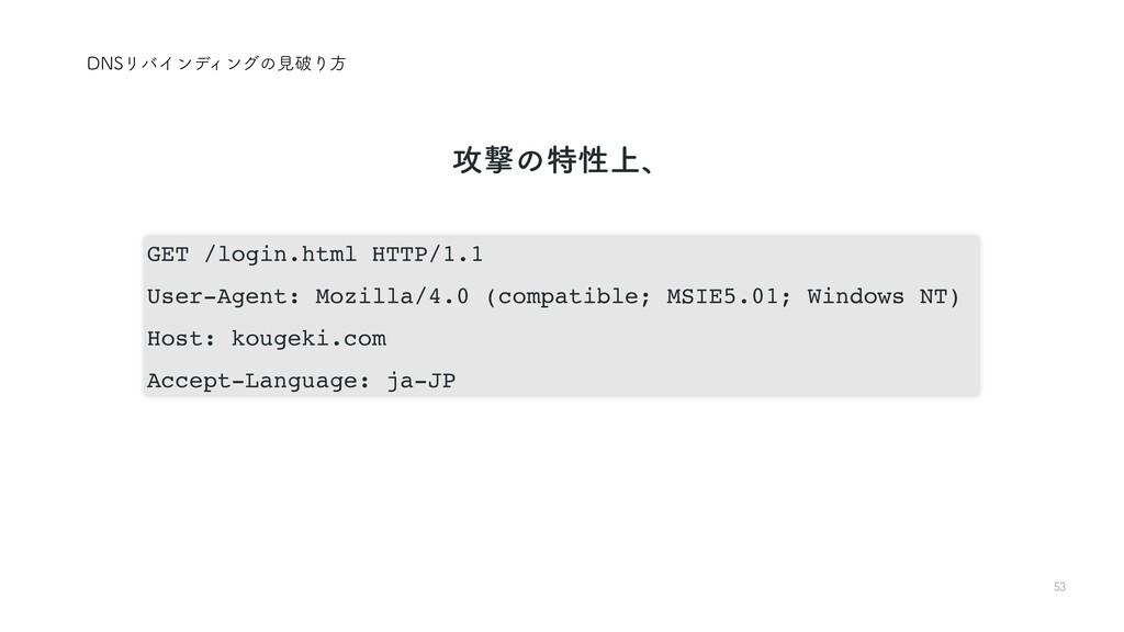 53 %/4ϦόΠϯσΟϯάͷݟഁΓํ GET /login.html HTTP/1.1 Us...
