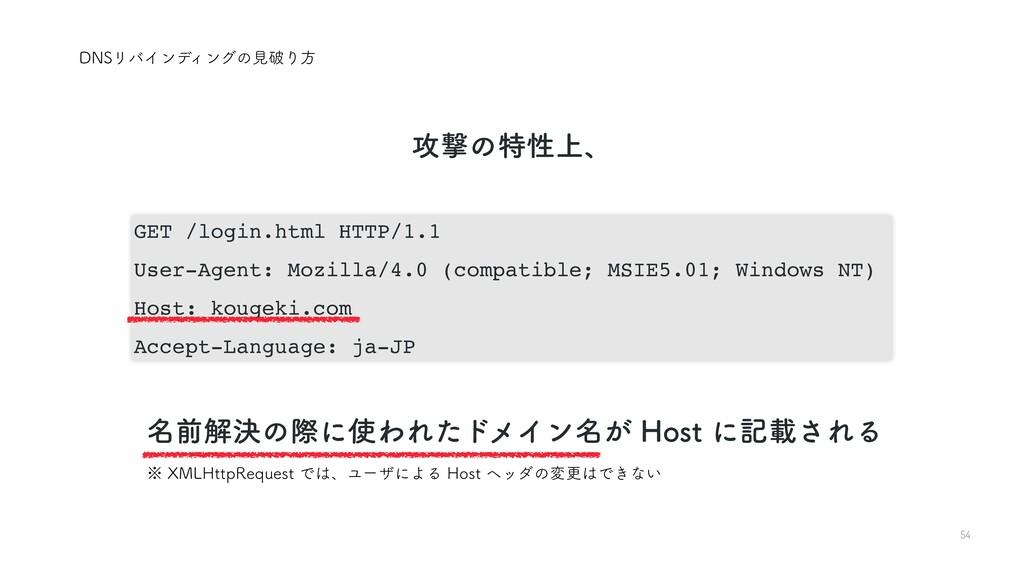 54 GET /login.html HTTP/1.1 User-Agent: Mozilla...