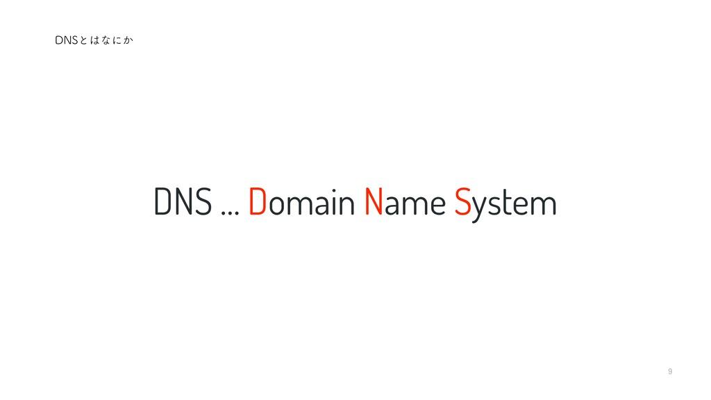 9 DNS … Domain Name System %/4ͱͳʹ͔