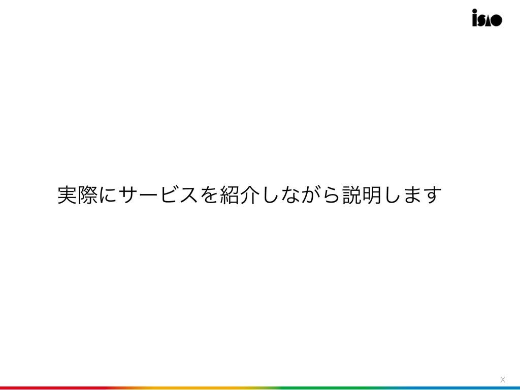 9 ࣮ࡍʹαʔϏεΛհ͠ͳ͕Βઆ໌͠·͢