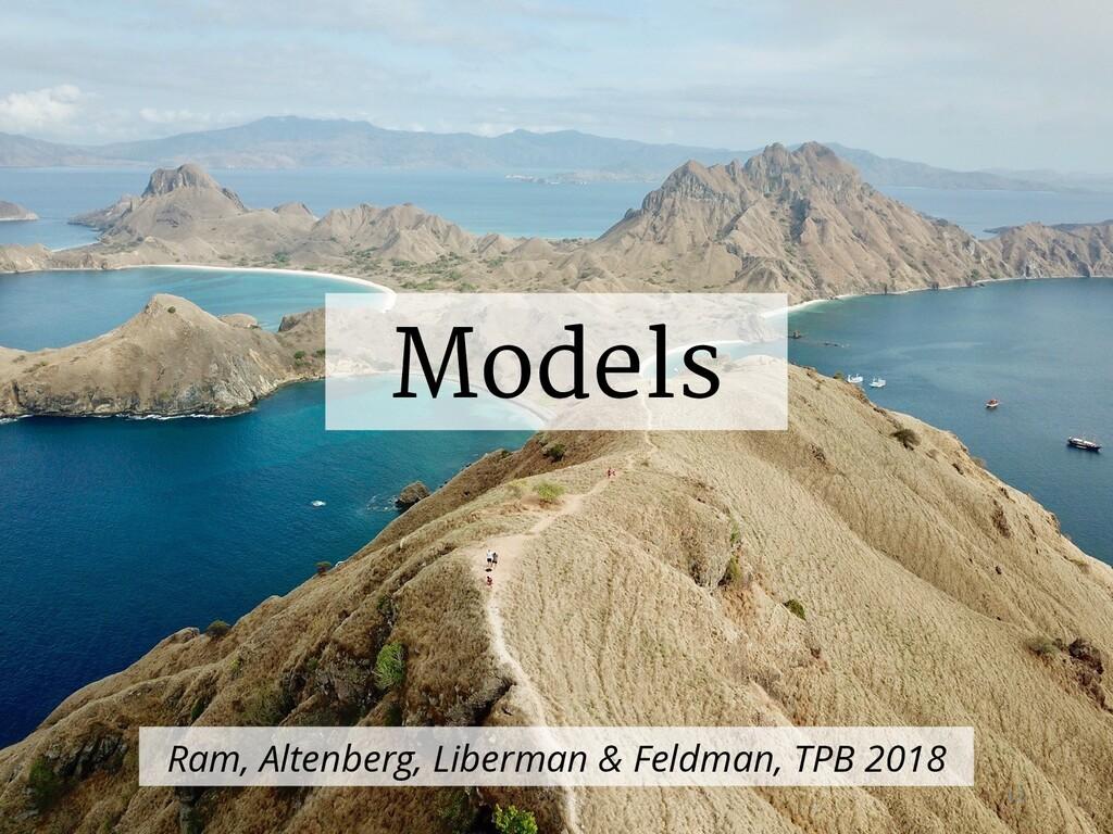 Models Ram, Altenberg, Liberman & Feldman, TPB ...