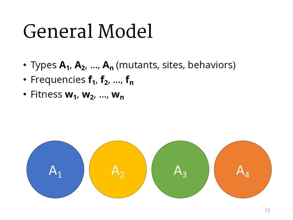 General Model • Types A1 , A2 , …, An (mutants,...