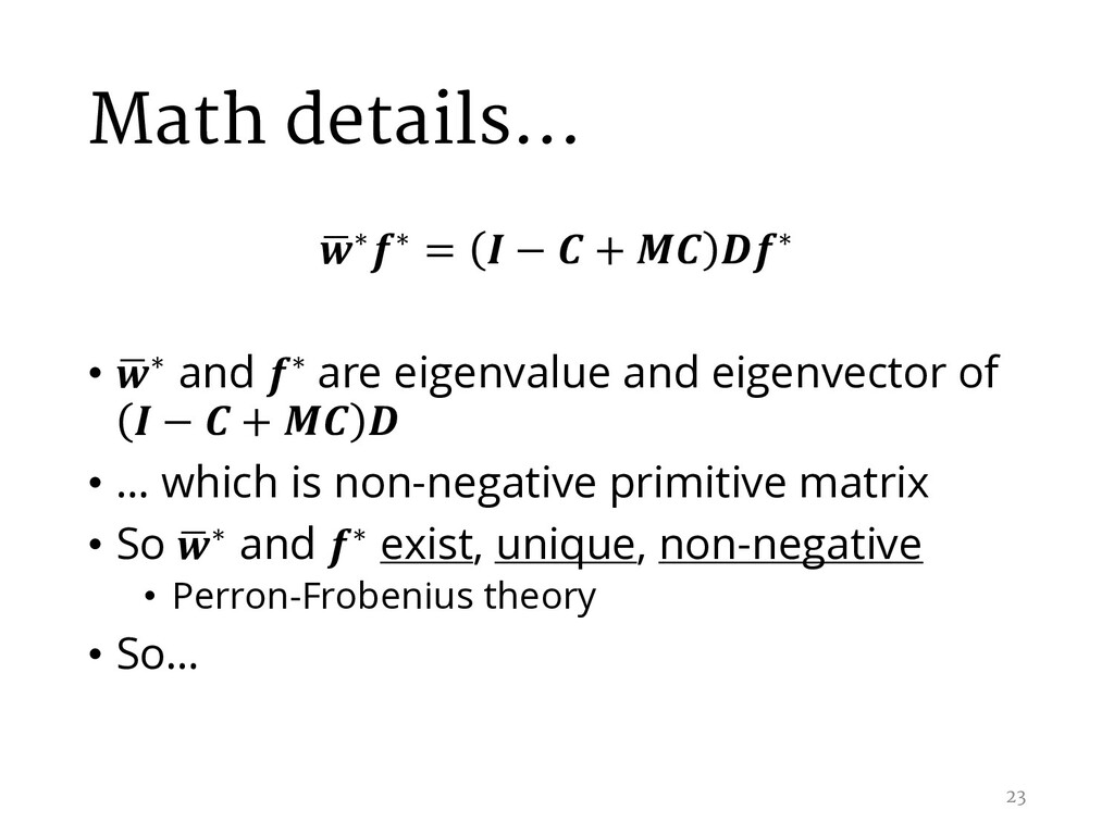 Math details… , ∗∗ =  −  +  ∗ • , ∗ and ∗ are e...