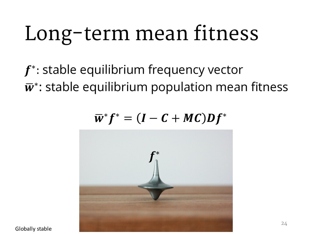 Long-term mean fitness ∗: stable equilibrium fr...