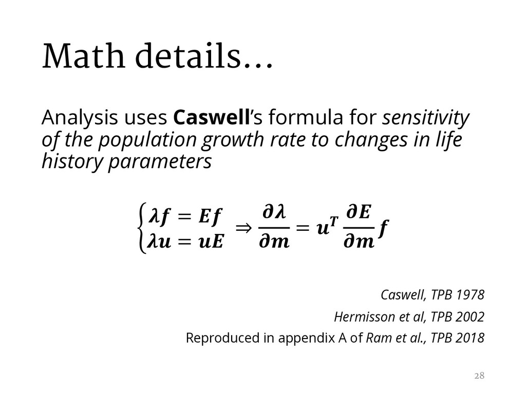 Math details… Analysis uses Caswell's formula f...