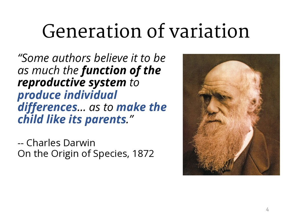 """Generation of variation """"Some authors believe i..."""