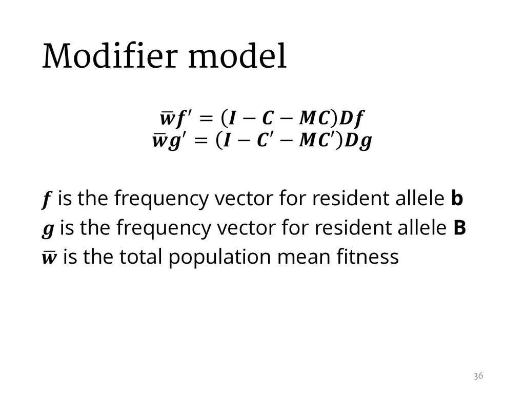 Modifier model , / =  −  −   , / =  − ′ − ′   i...