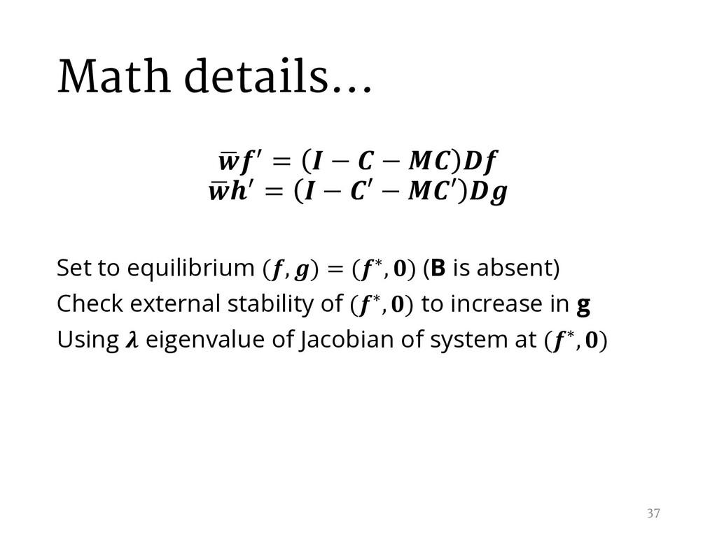 Math details… , / =  −  −   , / =  − ′ − ′  Set...
