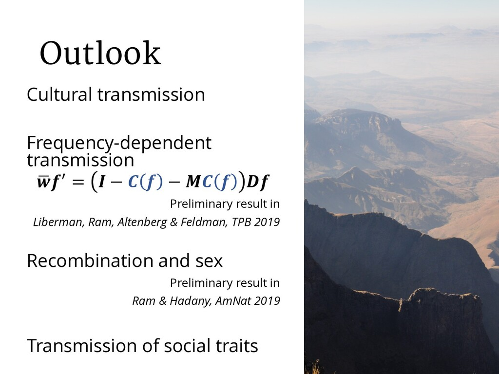 Outlook Cultural transmission Frequency-depende...